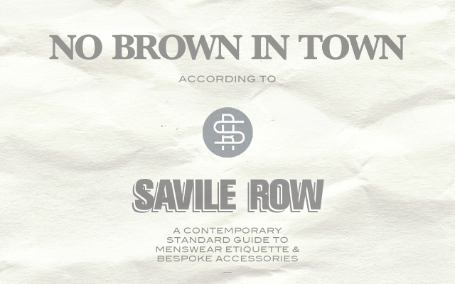 No brown in town rule
