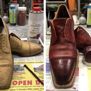 Tintura scarpe